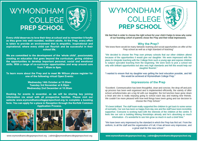 Learn more about the Prep and our online information events